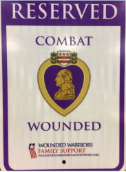 Purple Heart Parking Sign