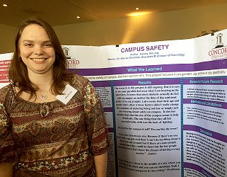 Ashley DeLung at Concord University 2015 Undergraduate Research Day