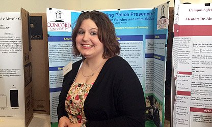 Layla Wehbi at Concord University 2015 Undergraduate Research Day
