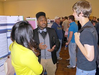 Juwan Waddy at Concord University 2014 Undergraduate Research Day