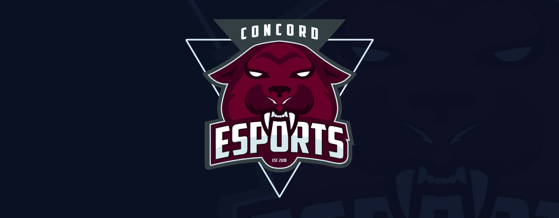 Concord University Varsity E Sports logo, Mountain Lion